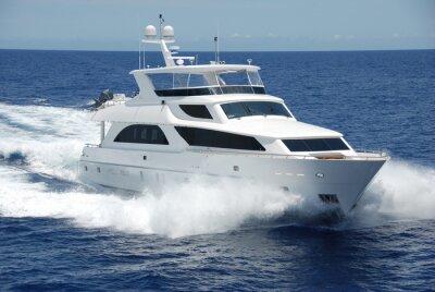 Fototapeta Luksusowy jacht na morzu