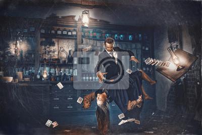 Fototapeta Magic moment - girl levitates