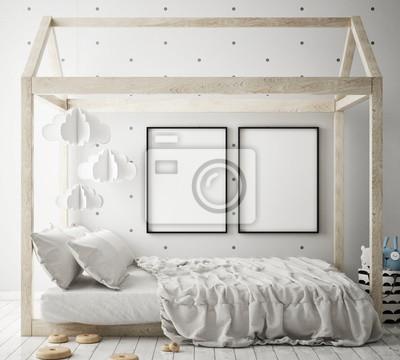 Fototapeta Makieta Do Ramki Plakat W Sypialni Dzieci Scandinavian Wnętrza