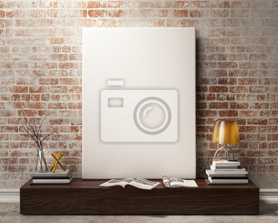 Fototapeta Makiety Plakat Rocznika Tle Wnętrza Loftu