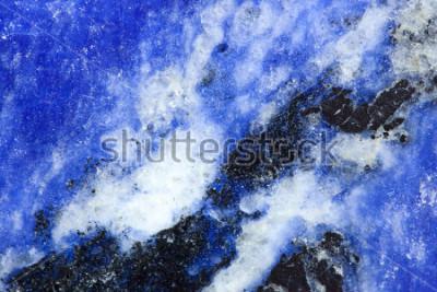 Fototapeta Makro- krótkopęd Lapis lazuli kamień. Zobacz moje portfolio po więcej