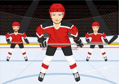 Fototapeta male hokeju na lodzie
