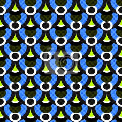 Fototapeta małe wielokąty i okręgi streszczenie geometryczny wzór ilustracji wektorowych