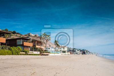Fototapeta Malibu i ses maisons sur la plage