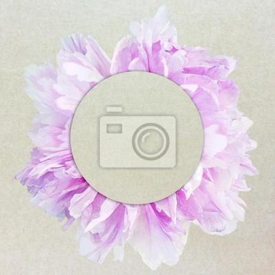 Fototapeta malowanie karty zaproszenie na kwiat tekstury papieru