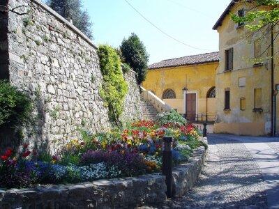 Fototapeta malownicze streen we Włoszech