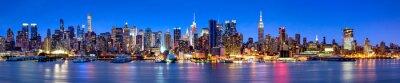 Fototapeta Manhattan skyline panorama w nocy