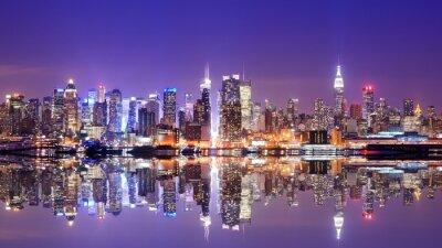 Fototapeta Manhattan Skyline z odbicia