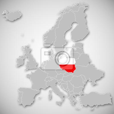 Mapa Europy Polska Fototapeta Fototapety Europa Obywatelstwo