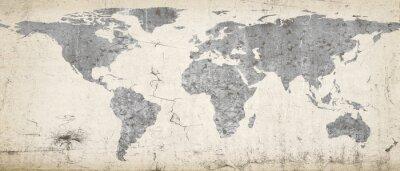 Fototapeta Mapa planety Ziemi. Zarysowania tekstur z mojego portfela