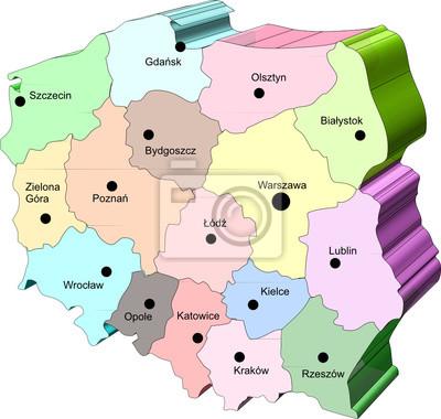 Mapa Polski Fototapeta Fototapety Szczecin Pomorski Ulotka