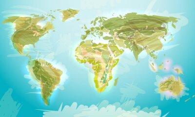 Fototapeta Mapa świata w stylu grunge