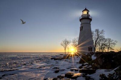 Fototapeta Marblehead Lighthouse Sunrise