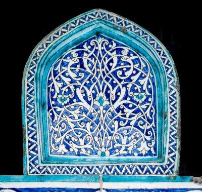 Fototapeta Marmurowa tło z orientalnymi ornamentami