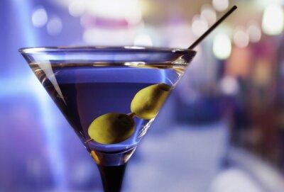 Fototapeta martini z zielonych oliwek