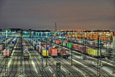 Fototapeta Maschen Rangierbahnhof