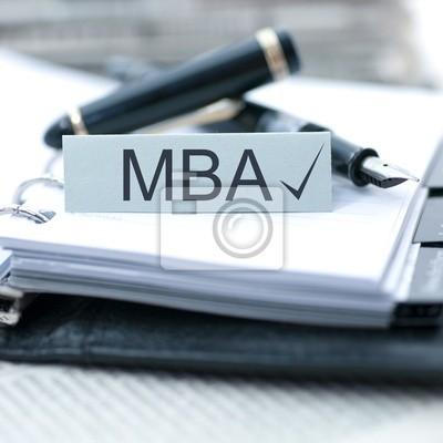 Fototapeta Master of Business Administration