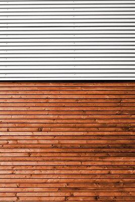 Fototapeta Materialmix Holz Metall @ miket
