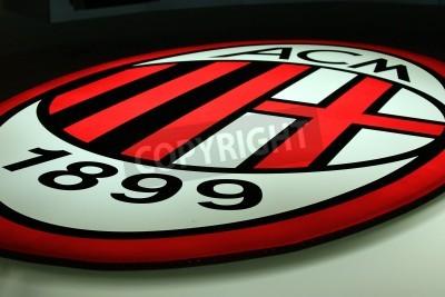Fototapeta Mediolan, Włochy, 20 września 2010 - AC Milan logo.