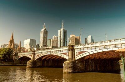 Fototapeta Melbourne, Victoria - Australia. Piękne miasto skyline