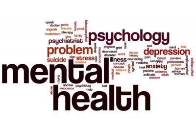 Fototapeta Mental health word cloud