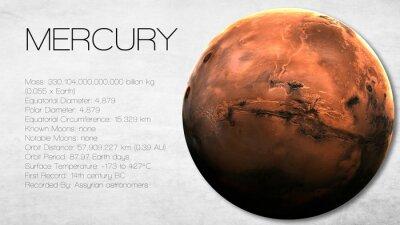 Fototapeta Merkury - Wysoka rozdzielczość Infografika przedstawia jeden z energii słonecznej