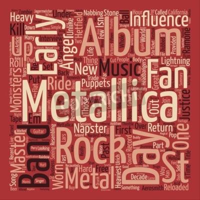Fototapeta Metallica St Anger tekst tła pojęcie koncepcji chmura