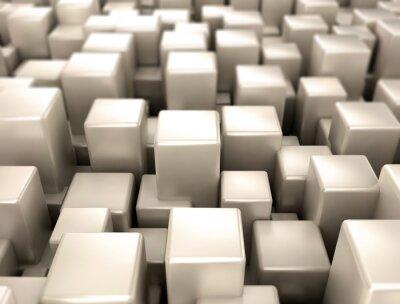 Fototapeta Metalowe kostki metalowe kształty tle