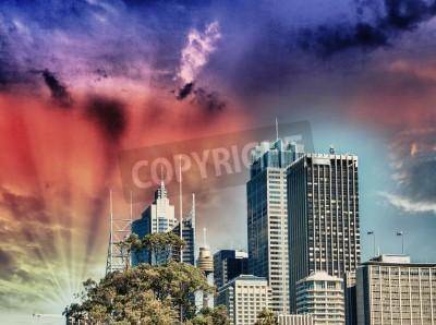 Fototapeta Metropolis skyline.