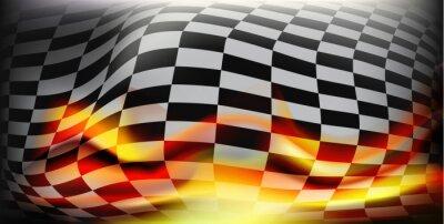 Fototapeta mety wyścigu. Flagi wyścigowych. Tło Do mety