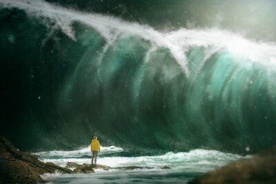 Fototapeta Mężczyzna przed tsunami