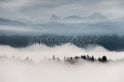Fototapeta Mgłowy góra krajobraz w kolumbiach brytyjska, Kanada