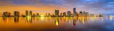 Fototapeta Miami, Florida Biscayne Bay Skyline Panorama