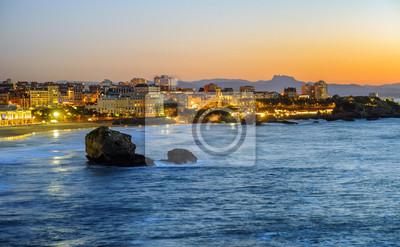Fototapeta Miasto Biarritz, zatoka Biscay, Kraj Basków, Francja