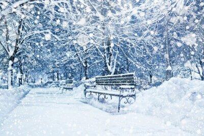 Fototapeta Miasto pokryte śniegiem