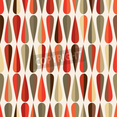 Fototapeta Mid-century nowoczesny styl retro bezszwowych wzór z kropli kształtów w różnych kolorach, abstrakcyjne powtarzania tła dla wszystkich stron internetowych i drukowania celów.