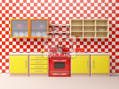 Fototapeta Mieszkanie Z Lat 50 Kuchnia