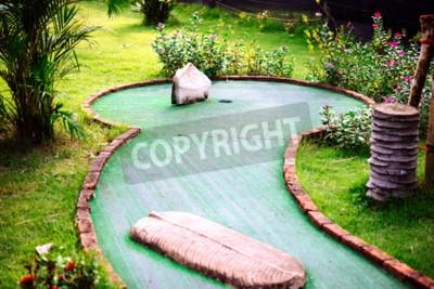 Fototapeta Mini klub golfowy urządzony w stylu tajskim