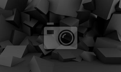 minimalist black background with square geometric shapes
