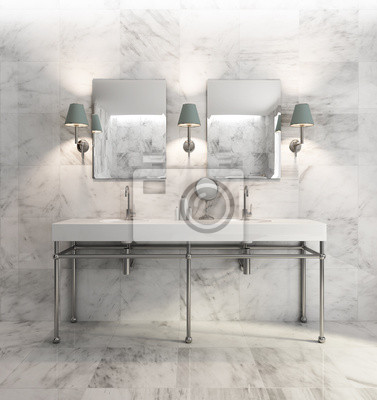 Fototapeta Minimalne Eleganckie I Luksusowe łazienki Oliwkowy Biały Marmur