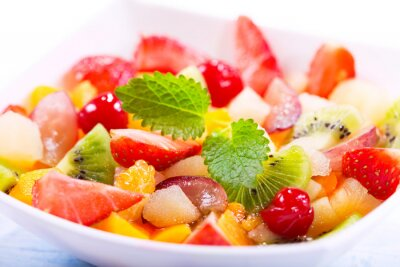 Fototapeta miska sałatki owocowej