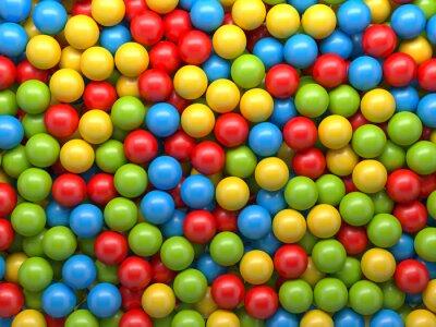 Fototapeta mixed background color balls