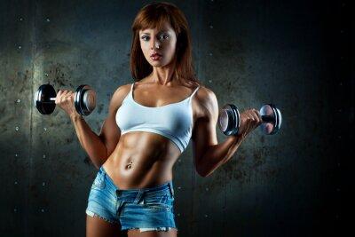 Fototapeta Młoda kobieta sportowa