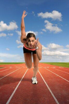 Fototapeta Młoda Kobieta Sprint
