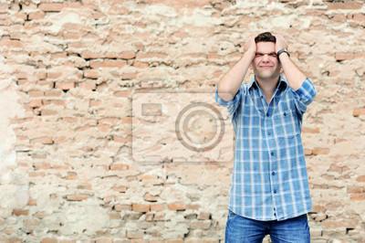 Fototapeta Młody człowiek w rozpaczy