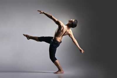 Fototapeta Młody, stylowy i nowoczesny balet tancerz