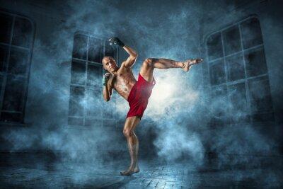 Fototapeta Młodzieniec kickboxing