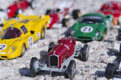 Fototapeta Modele klasycznych samochodów w słońcu