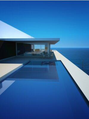 Fototapeta Modern Luxury Loft / Apartament z widokiem na ocean + Basen Infinity