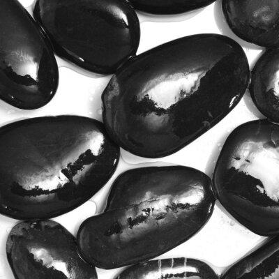 Fototapeta mokre czarne kamienie